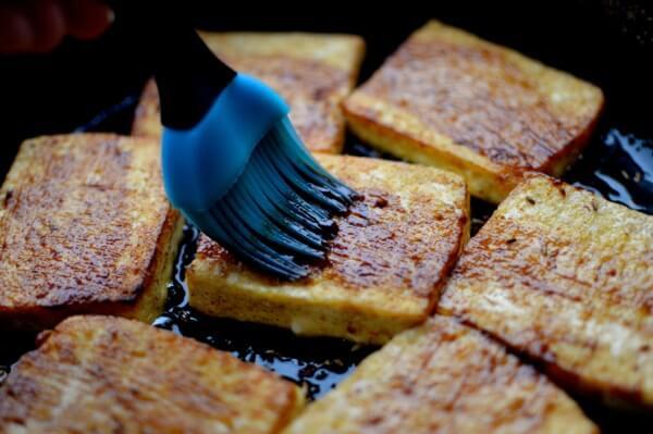 Spicy Griddled Tofu Steak, by thewoksoflife.com