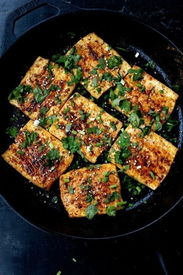Spicy Griddled Tofu Steak, by thewoksoflife.com