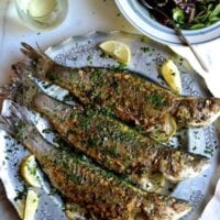 Lemon Soy Roasted Branzino