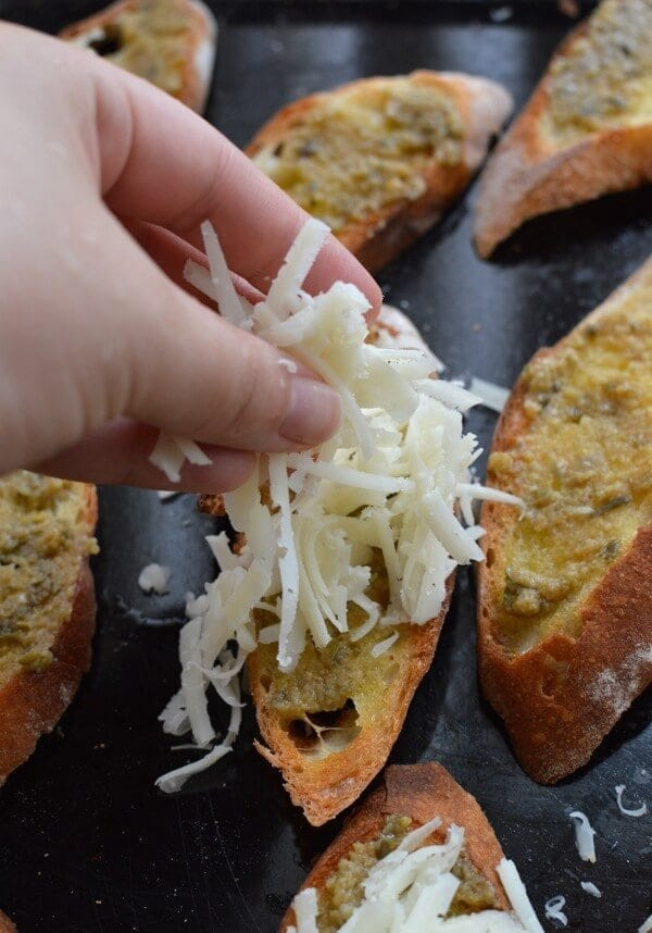 Lemon Manchego Toasts with Green Olive Tapenade by thewoksoflife.com