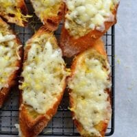Lemon Manchego Toasts with Olive Tapenade, by thewoksoflife.com