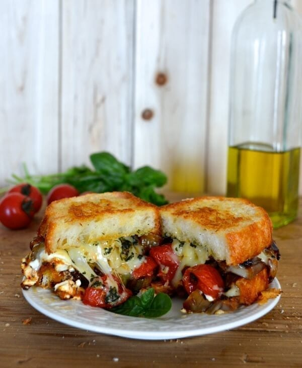 Ratatouille Grilled Cheese, by thewoksoflife.com