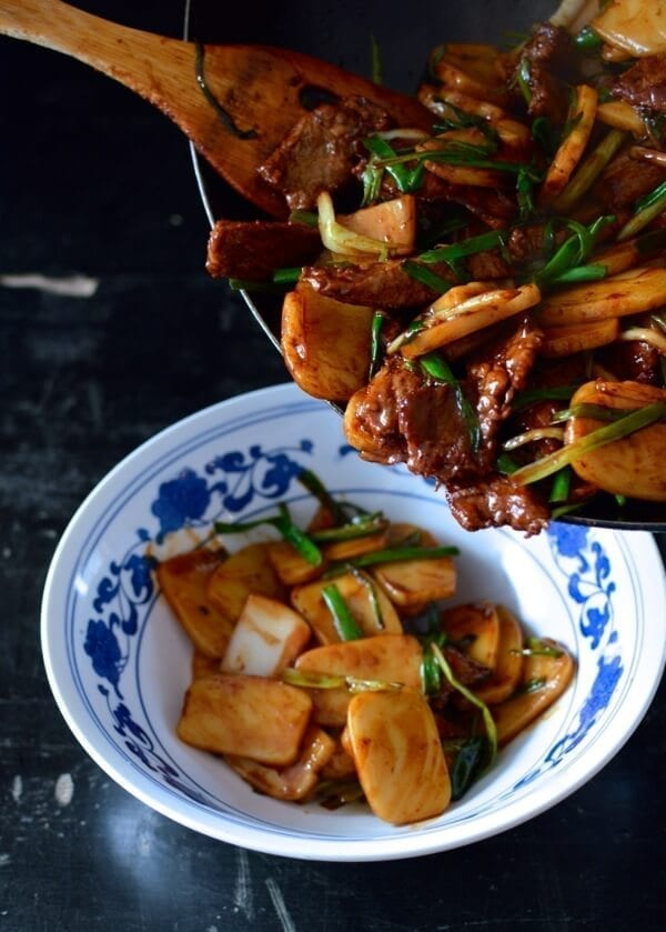 Stir fried rice cake recipe