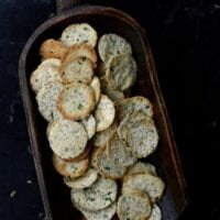 Homemade Scallion Sesame Crackers