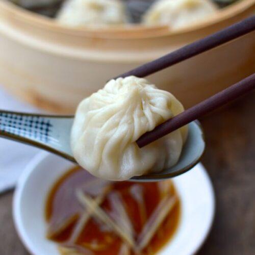 Steamed Shanghai Soup Dumplings (Xiaolongbao)