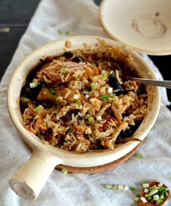 Chicken and Mushroom Clay Pot Rice by thewoksoflife.com