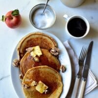 Apple Cider Pancakes, by thewoksoflife.com