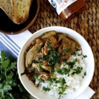 Spicy Chicken Gumbo with Andouille Sausage, by thewoksoflife.com