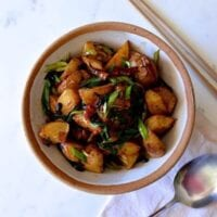Spicy Black Bean Twice Cooked Potatoes
