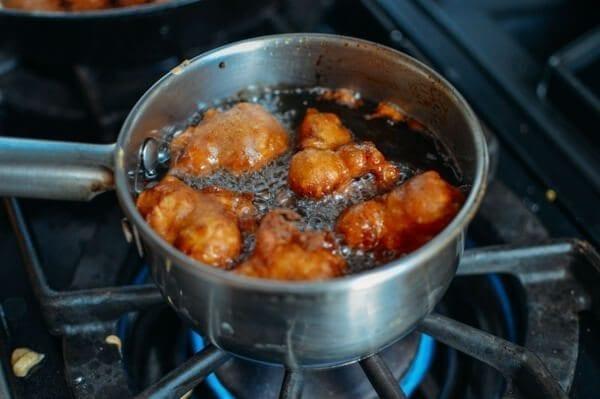 Cinnamon Sugar Apple Fritters, by thewoksoflife.com