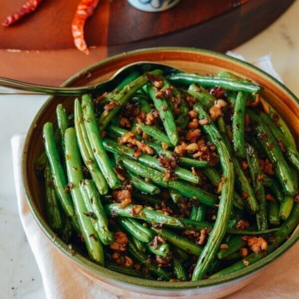 Dry fried string beans