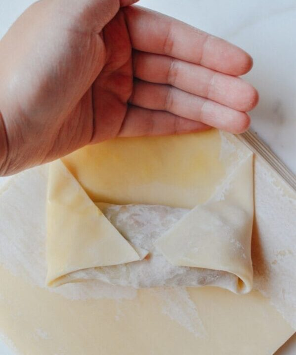 How to Wrap Egg Rolls, by thewoksoflife.com