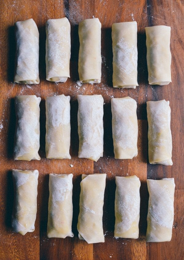 Homemade Egg Rolls, by thewoksoflife.com