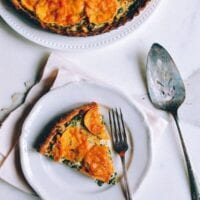 Cheesy Kale Sweet Potato Tart