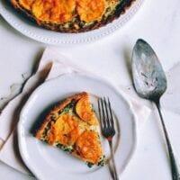 Cheesy Kale Sweet Potato Tart