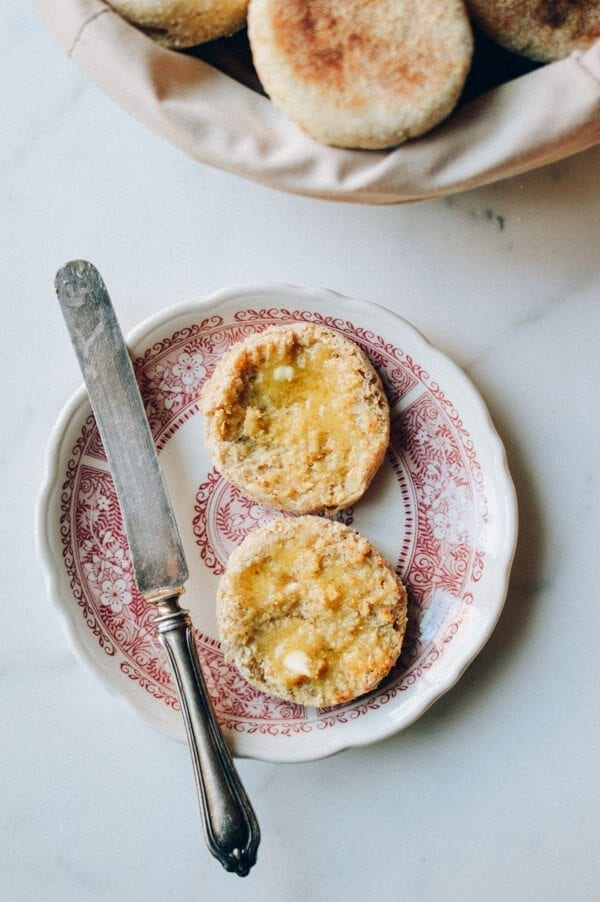 Homemade Multigrain English Muffins, by thewoksoflife.com