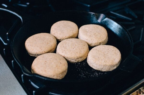 Homemade Multigrain English Muffins, by thewoksoflife.com