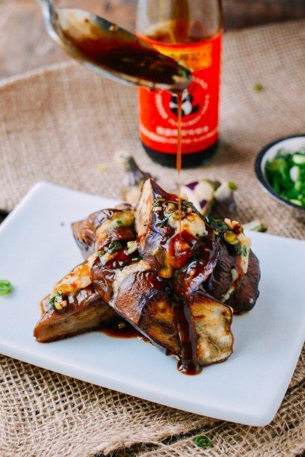 Chinese Stuffed Eggplant, by thewoksoflife.com