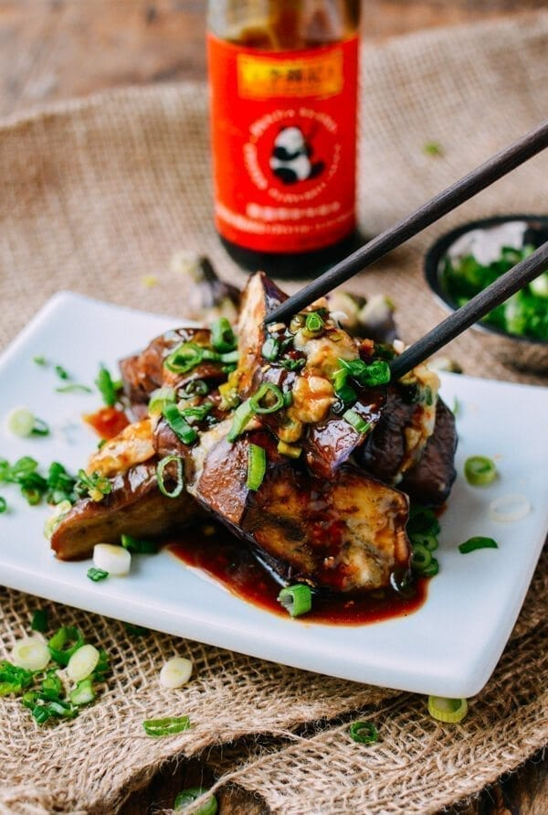 Chinese Stuffed Eggplant, by thewoksoflife.com
