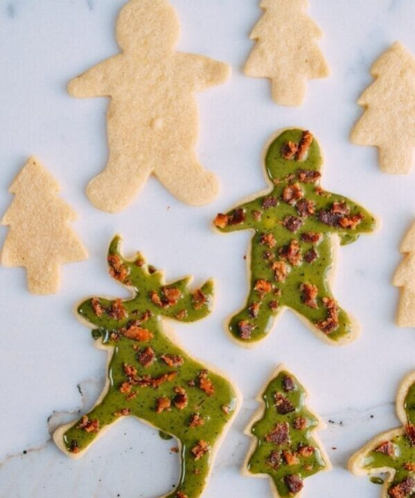 Matcha Bacon Sugar Cookies, by thewoksoflife.com