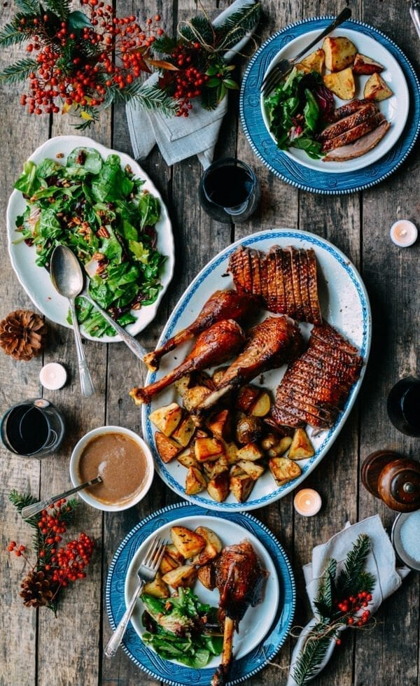 Orange Five-Spice Roast Goose and Potatoes, by thewoksoflife.com
