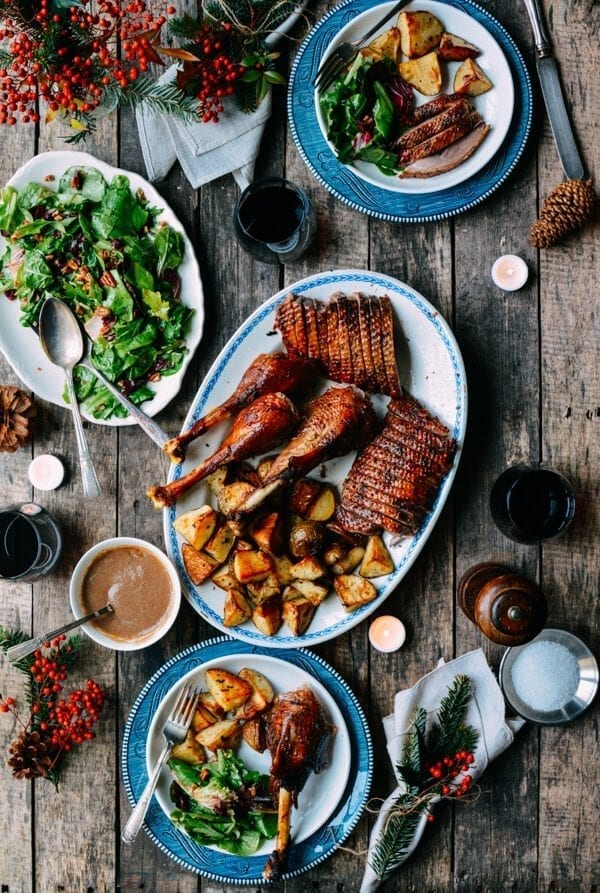 Orange Five-Spice Roast Goose and Potatoes, by thewoksoflife.com