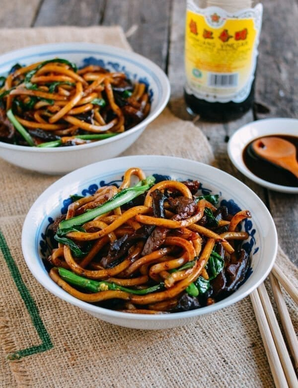 Chinese New year Recipes - Shanghai Fried Noodles, by thewoksoflife.com