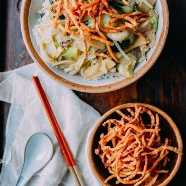 Chicken Chow Mein with crispy noodles
