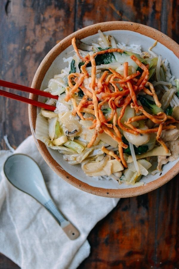 American Chinese Chicken Chow Mein, by thewoksoflife.com