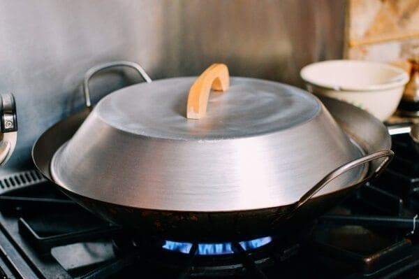 Homemade rice noodles (cheung fun), by thewoksoflife.com