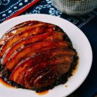 Mei Cai Kou Rou (Steamed Pork Belly w/ Preserved Mustard Greens)