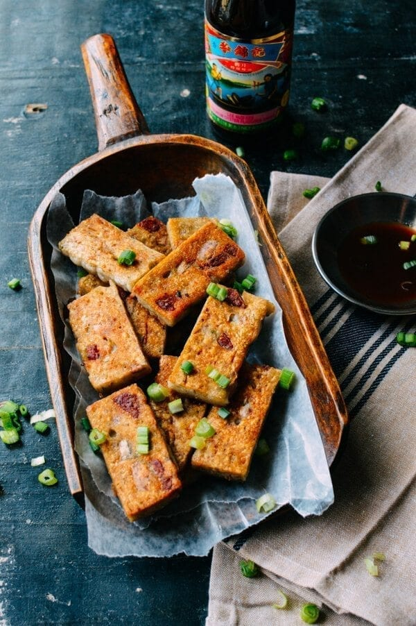 Chinese New year recipes - Crispy Taro Cake, by thewoksoflife.com