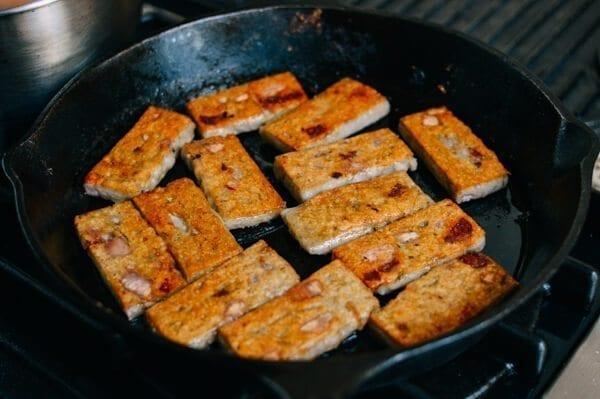 Crispy Taro Cake, by thewoksoflife.com