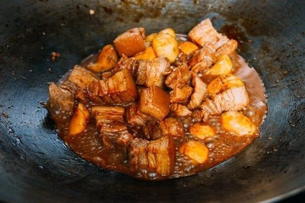 Cantonese Style Braised Pork Belly with Arrowroot, by thewoksoflife.com