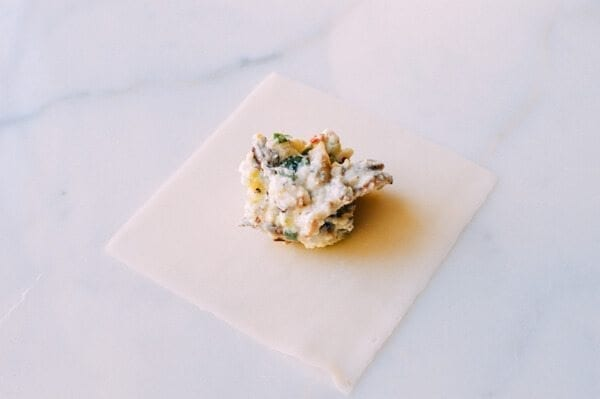 Shiitake Mushroom Tortellini w/ Soy Cream Sauce, by thewoksoflife.com
