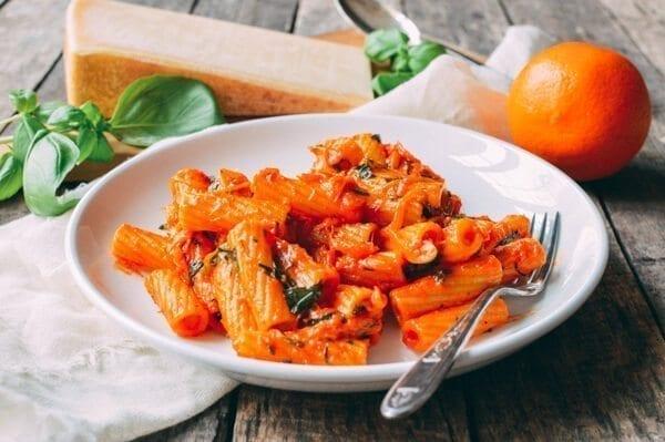 Orange Pasta, by thewoksoflife.com
