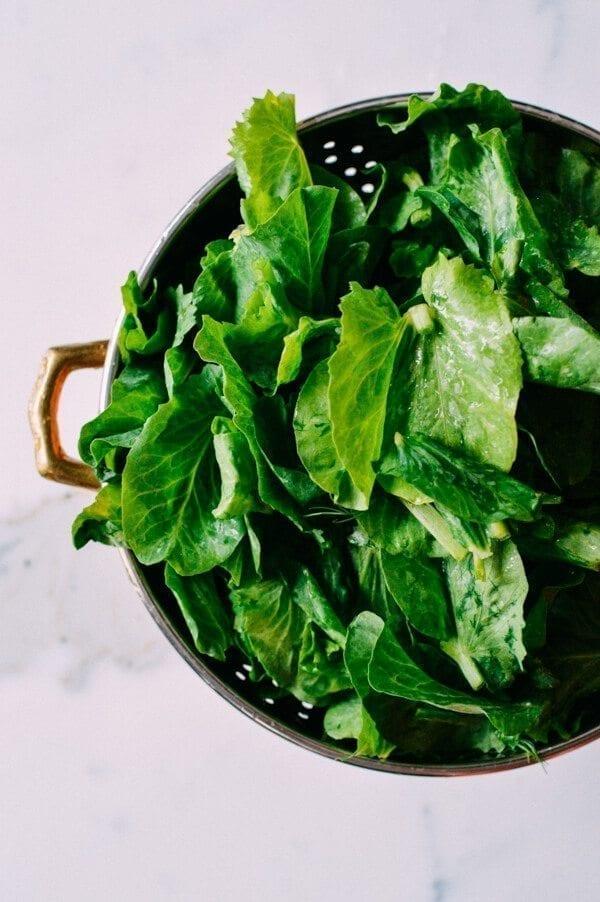 Pea Tips Stir-fry, by thewoksoflife.com