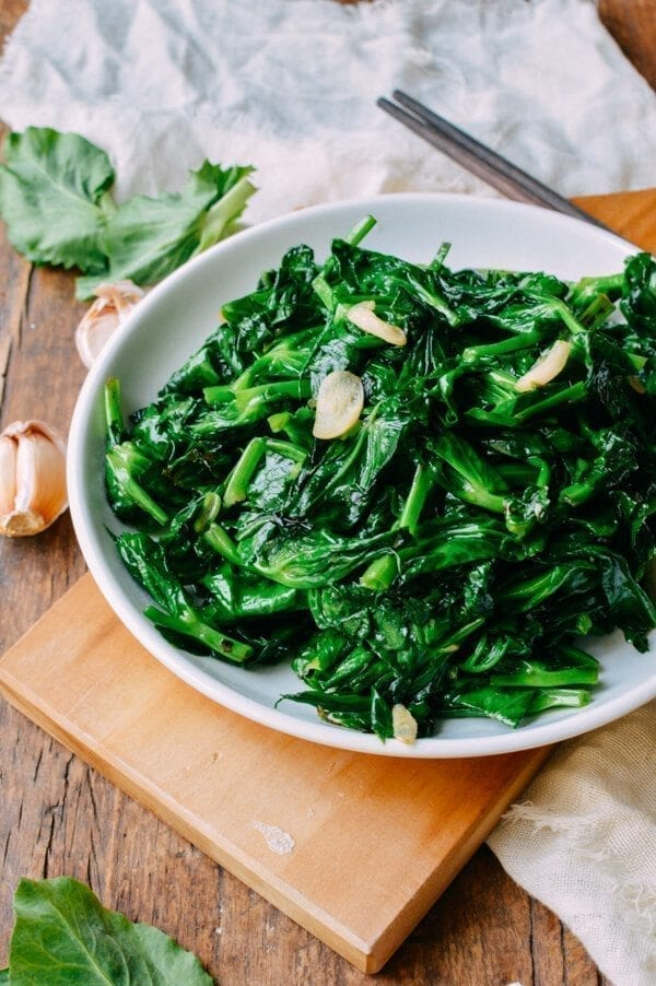 Pea Tips Stir-fry, by thewoksoflife.com