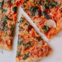 Veggie Pizza and Kaitlin's Perfect Pizza Method!