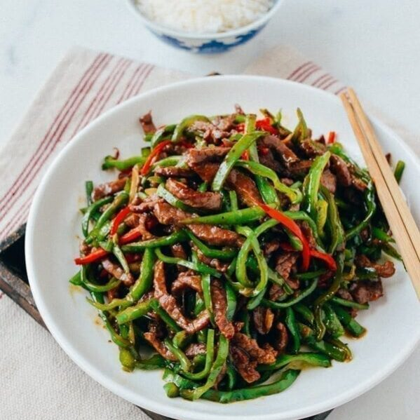 Beef and pepper stir-fry