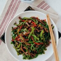 Beef and Pepper Stir-fry, by thewoksoflife.com