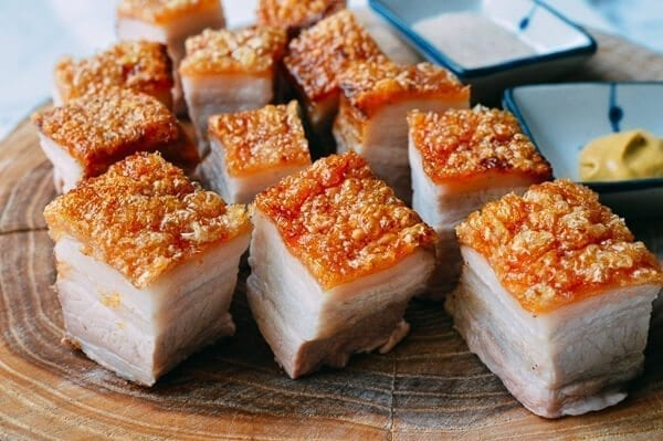 Cantonese Roast Pork Belly, by thewoksoflife.com