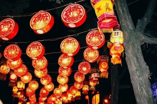 Temple fair lanterns