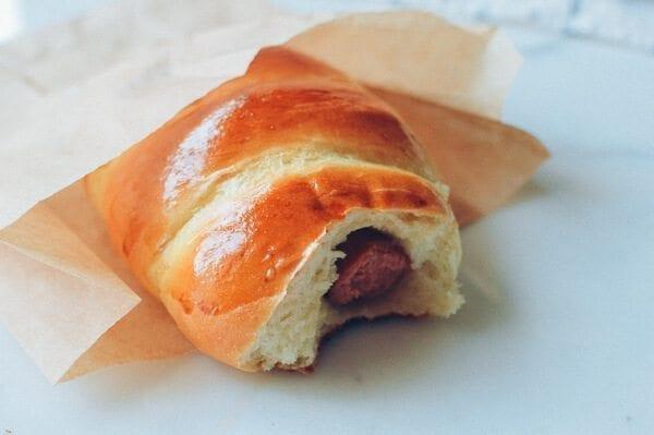 Chinese Hot Dog Buns, by thewoksoflife.com
