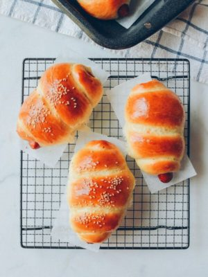 Chinese Hot Dog Buns, by thewoksoflife.com
