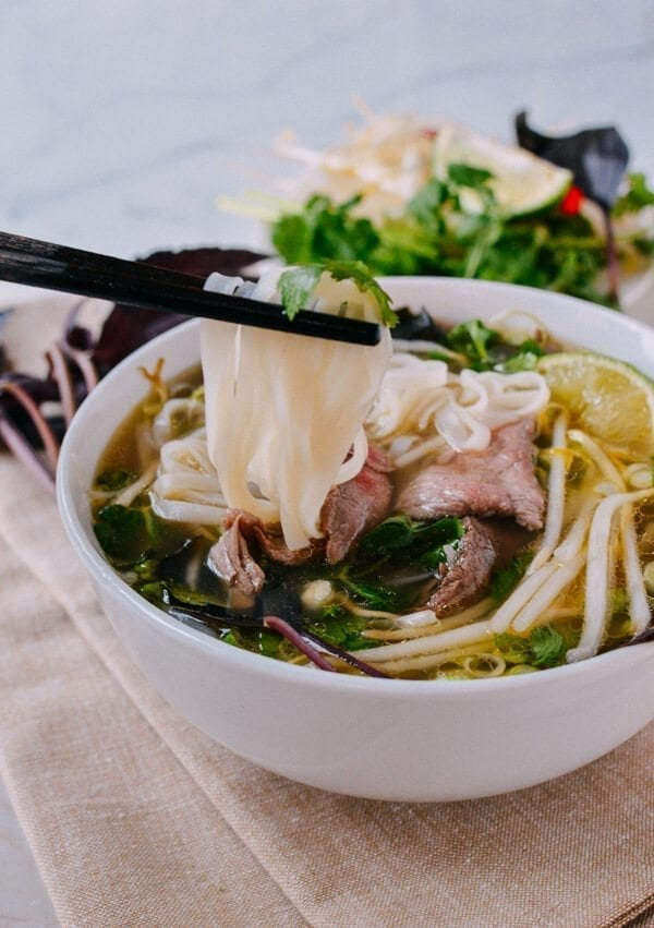 Pho rice noodles, by thewoksoflife.com