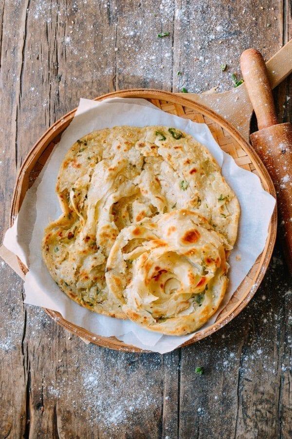 Shou Zhua Bing (Chinese Pancakes), by thewoksoflife.com