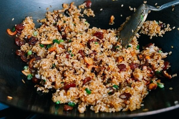 Sticky Rice with Chinese Sausage, by thewoksoflife.com