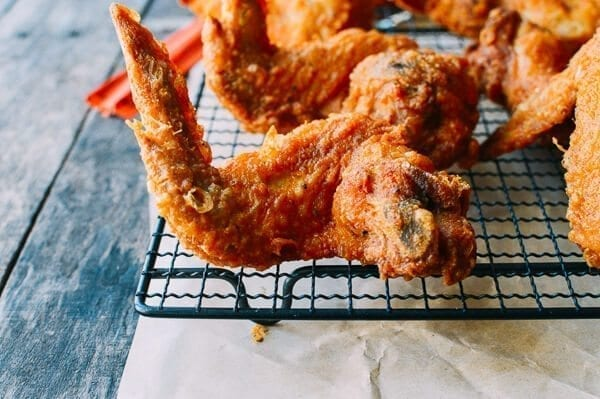 Fried Chicken Wings, Chinese Takeout Style, by thewoksoflife.com