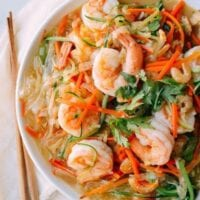 Vegetable Noodles with Shrimp, by thewoksoflife.com